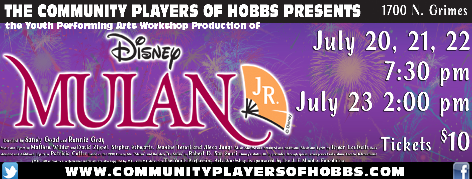 Community Players of Hobbs Box Office