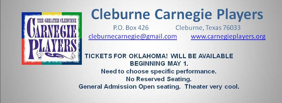 Greater Cleburne Carnegie Players Box Office